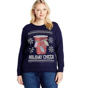 Women's Ugly Christmas Sweater Solo Cup Sz 4XL NEW